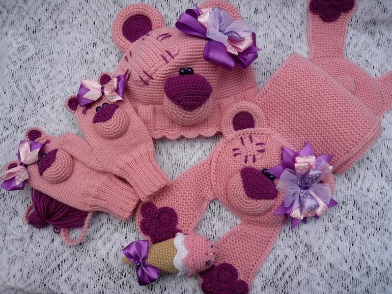 Вязание для детей крючком шарфики