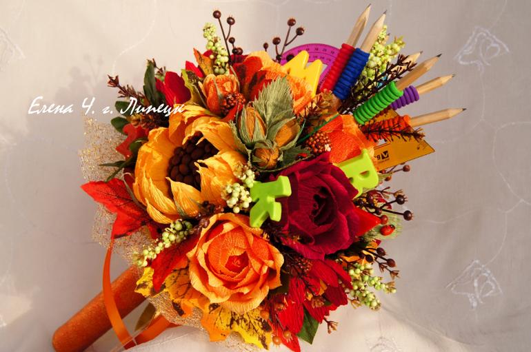 Букет из цветов своими руками для учителя 714