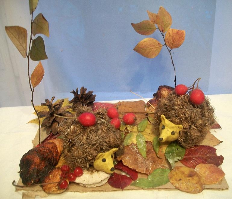 Осенние поделки из природных материалов в детский сад