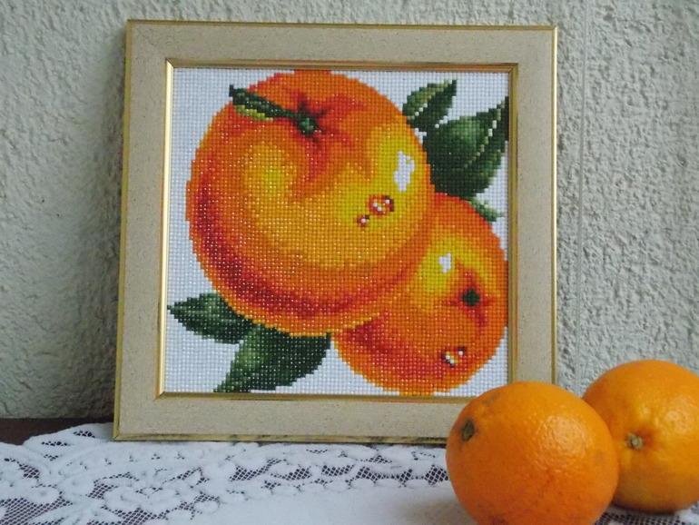 Алмазная вышивка персики 47