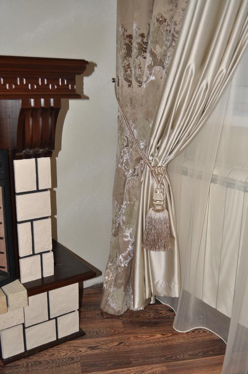 шторы из бархата в интерьере фото