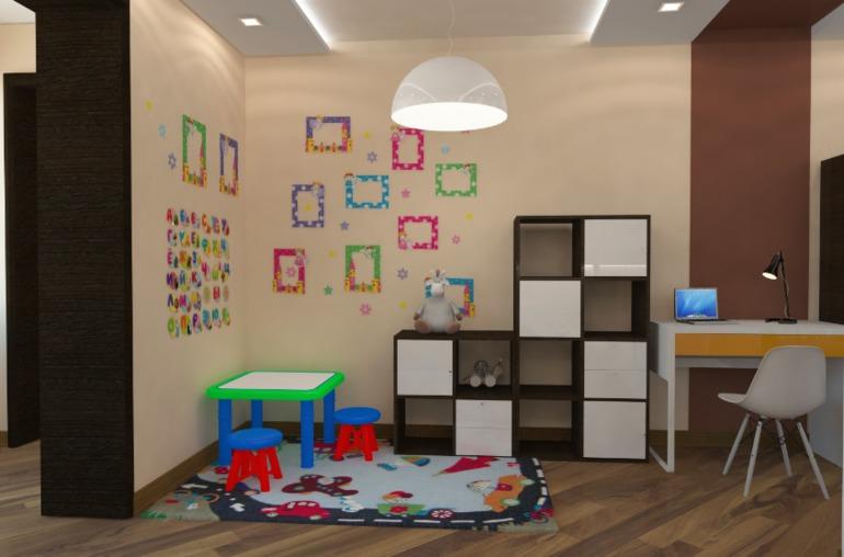 Детский угол в однокомнатной квартире