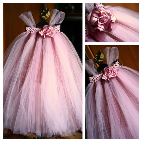 Платья для девочек своими руками из фатина фото для