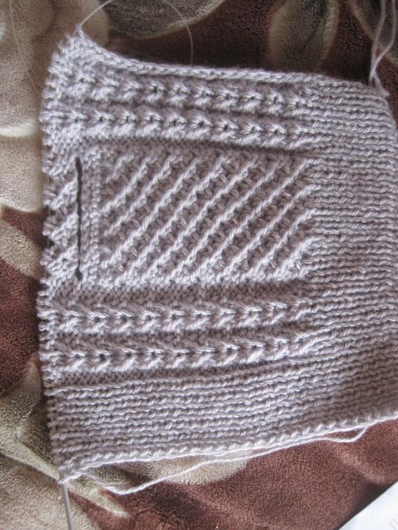 Вафельный узор спицами схема 619