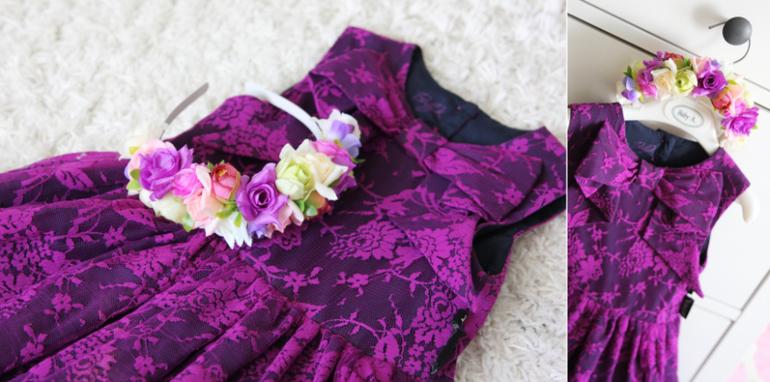 Ободки с цветами под платье