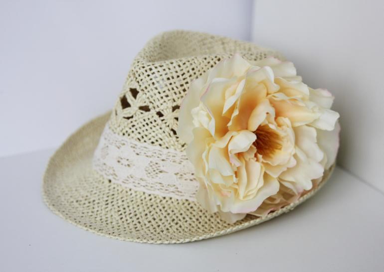 Шляпы с цветами
