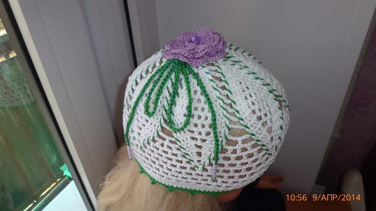 летняя шапочка -цветок