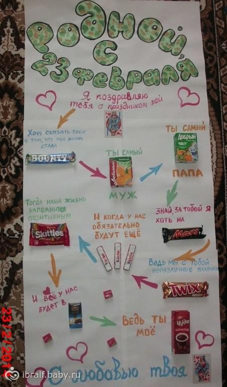 Как сделать плакат мужу