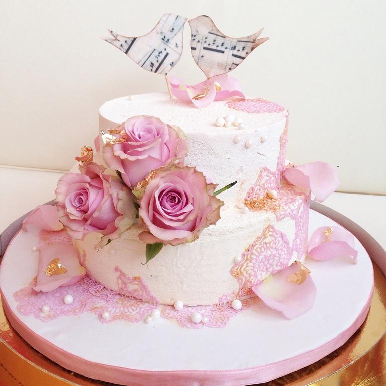 Муссовый торт свадебный