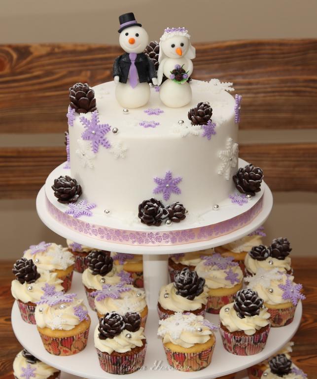 Свадебный со снеговиками