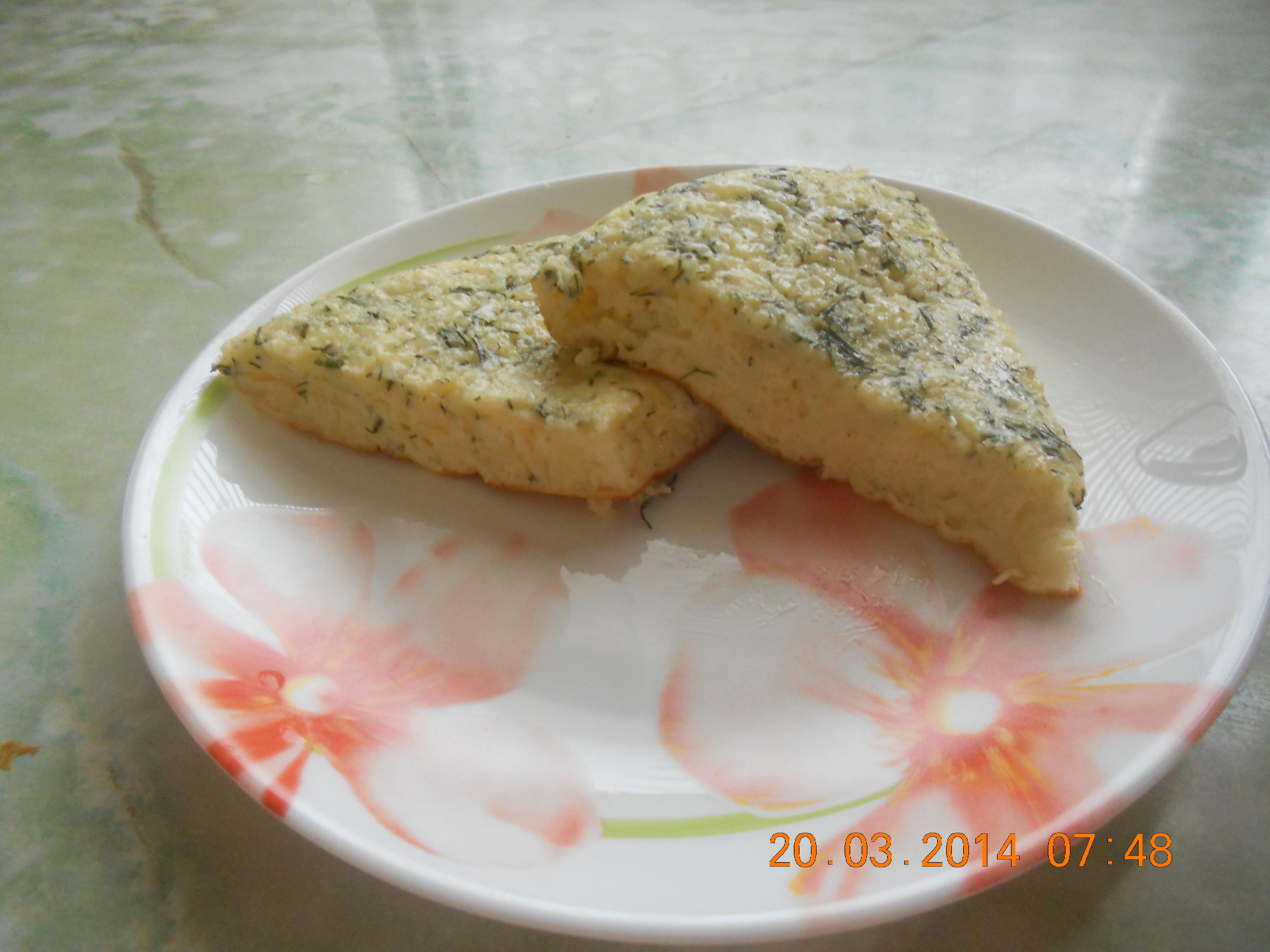 омлет с сыром и укропом