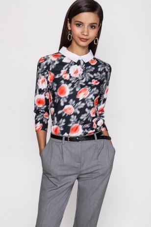 Блузки Из Цветного Шелка С Застежкой Сзади