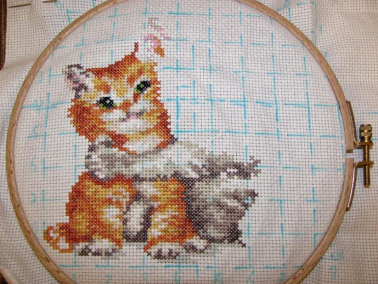 Алиса котенок вышивка 1