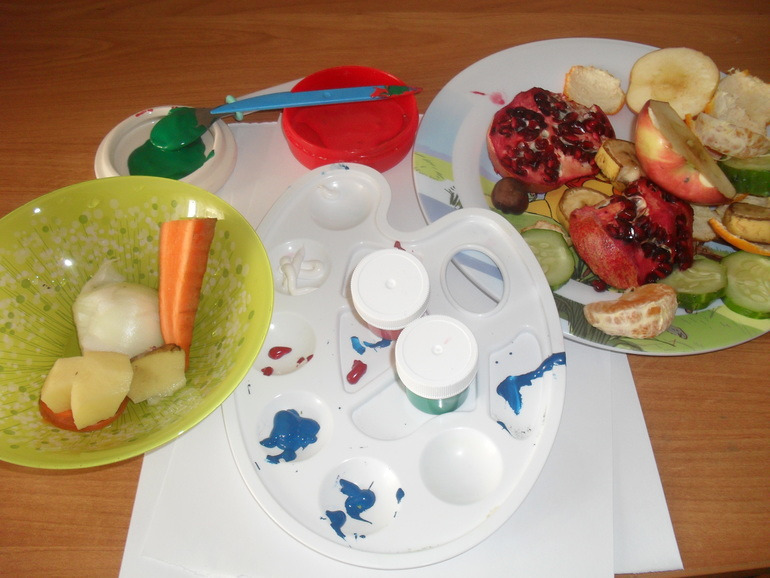 занятие знакомство с овощами и фруктами