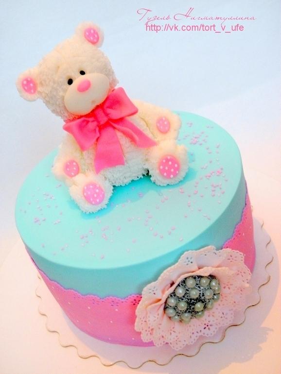 Торт детский с мишкой