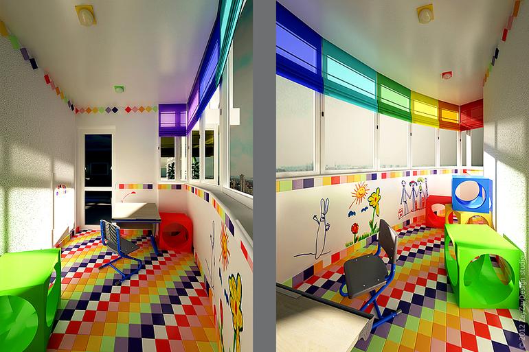 Комната для мальчиков с балконом..