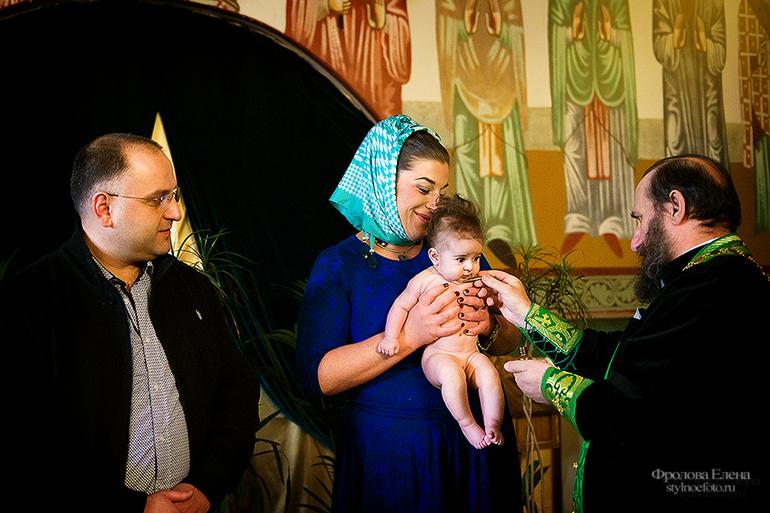Таинство Крещения Барбары. Храм Великомученика Георгия Победоносца  в Грузинах