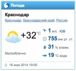 У нас жара!