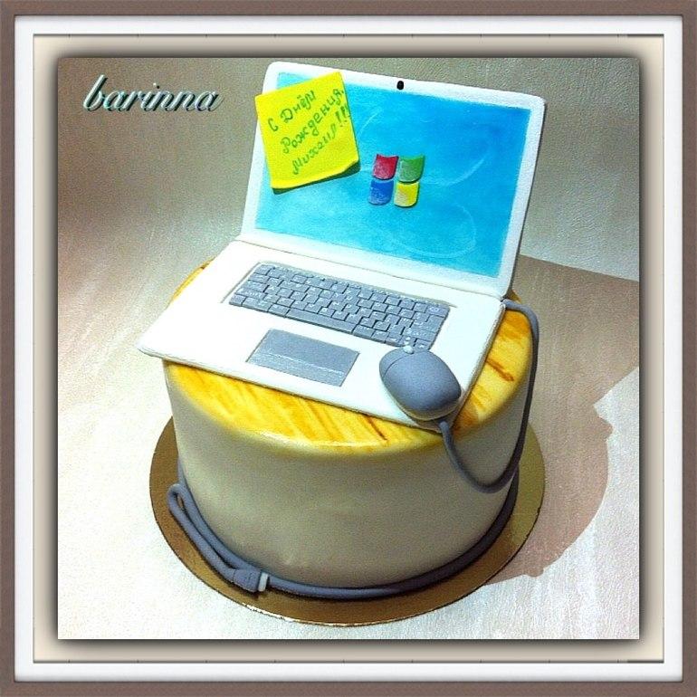 торт ноутбук фото