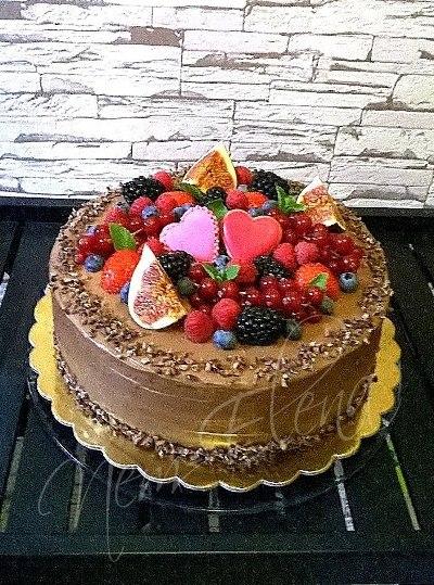 Дизайн торта без мастики фото