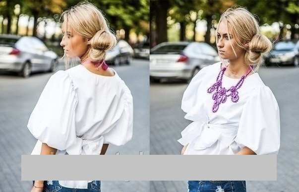 Блузкой
