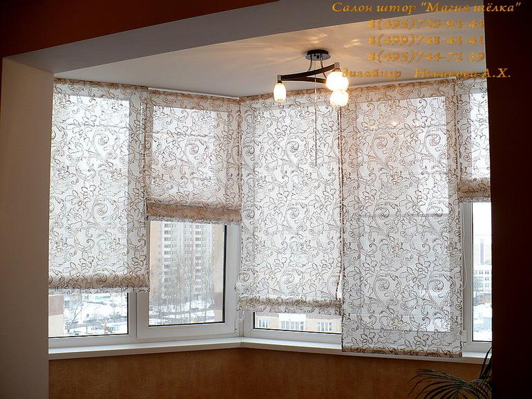 Идеи штор на балкон своими руками