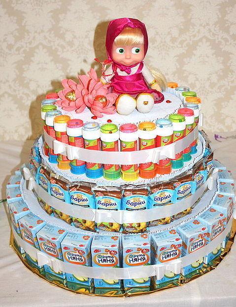 Как сделать своими руками торт из соков и мишек барни