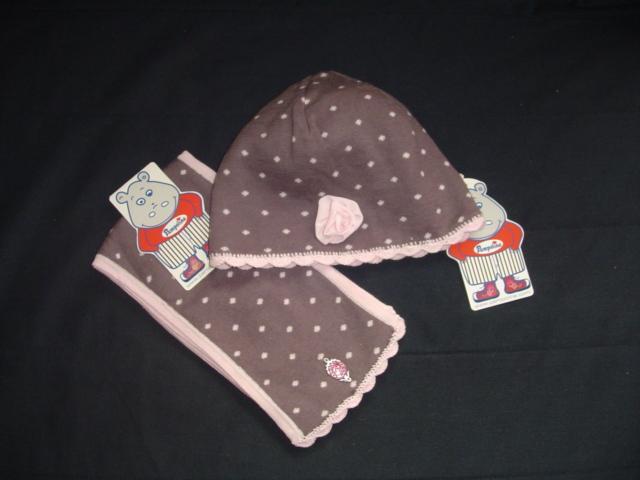Pampolina  новый  весенний  комплект  р.50  шапочка  и  шарф