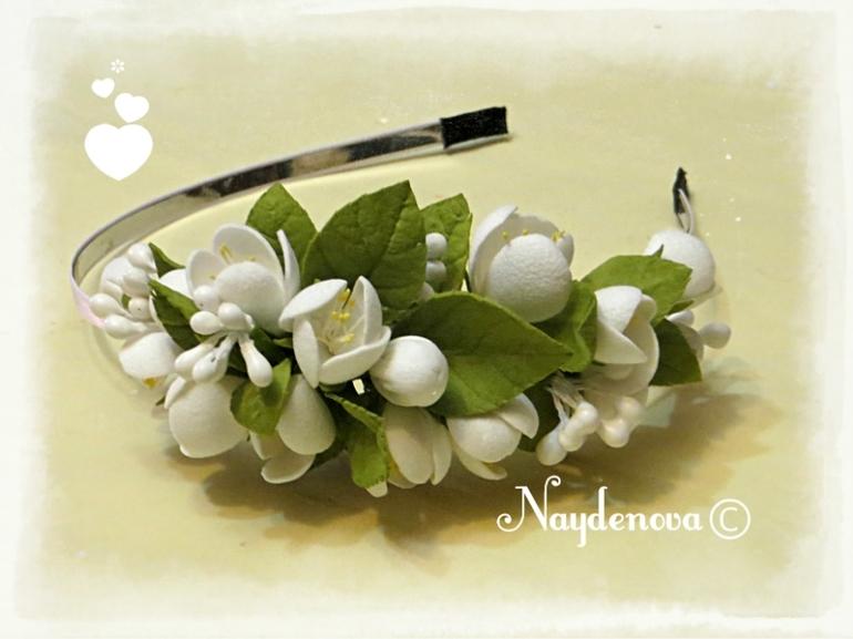 Ободки с цветами из фома