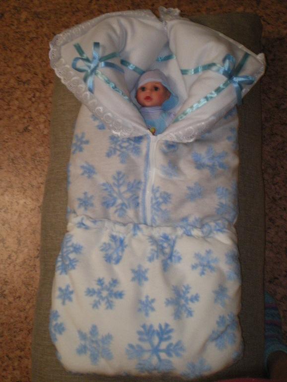 Конверт для новорожденного трансформер зимний своими руками 27