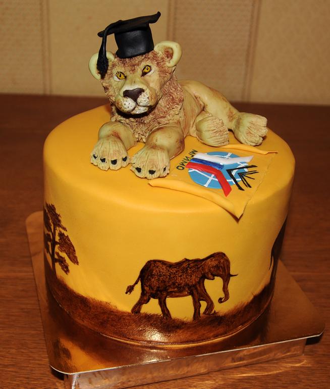 Фото торта со львами
