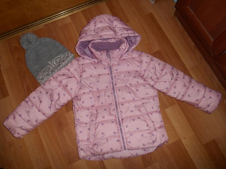 куртка для девочки lindex финляндия+шапочка р.110