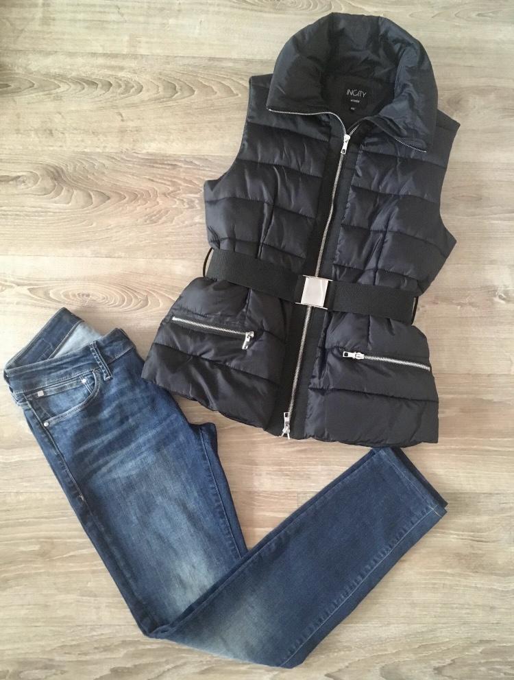 Жилет+джинсы