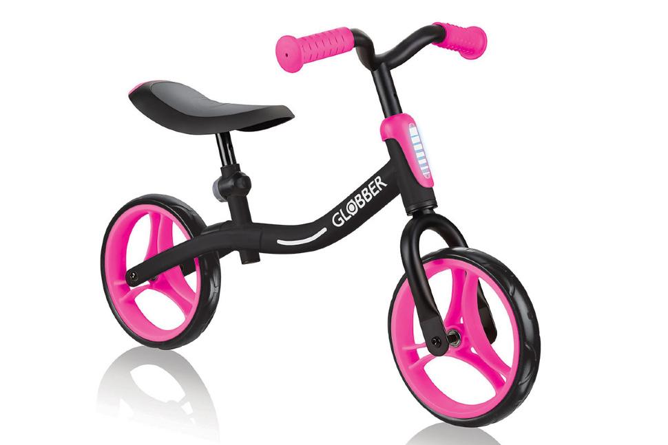 Беговел Globber Go Bike черно-розовый