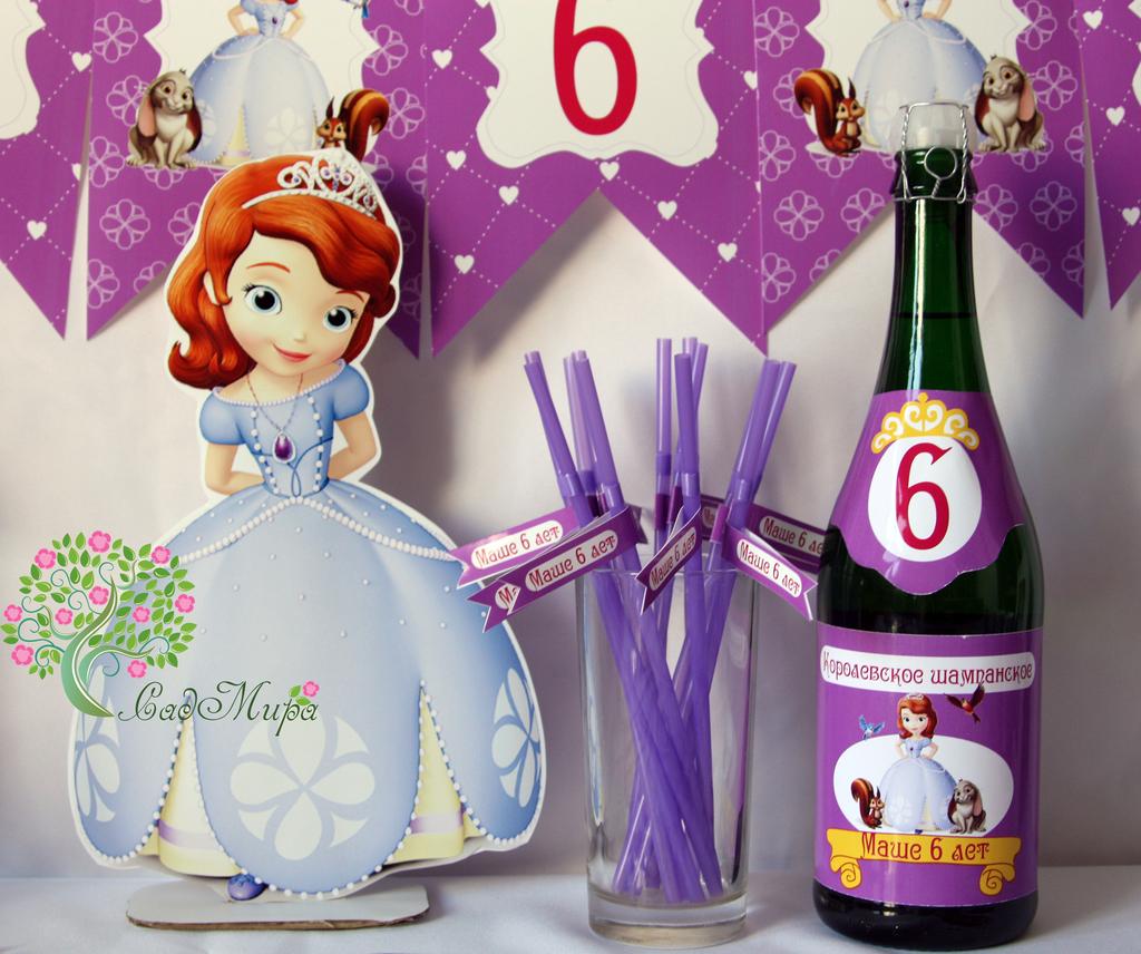 Набор для оформления дня рождения принцесса София.