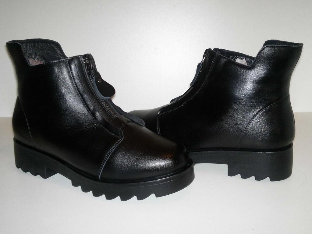Новые стильные зимние ботиночки!Нат.кожа+нат.мех!