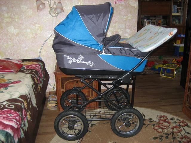 Детская коляска Anmar (люлька+прогулочный блок)