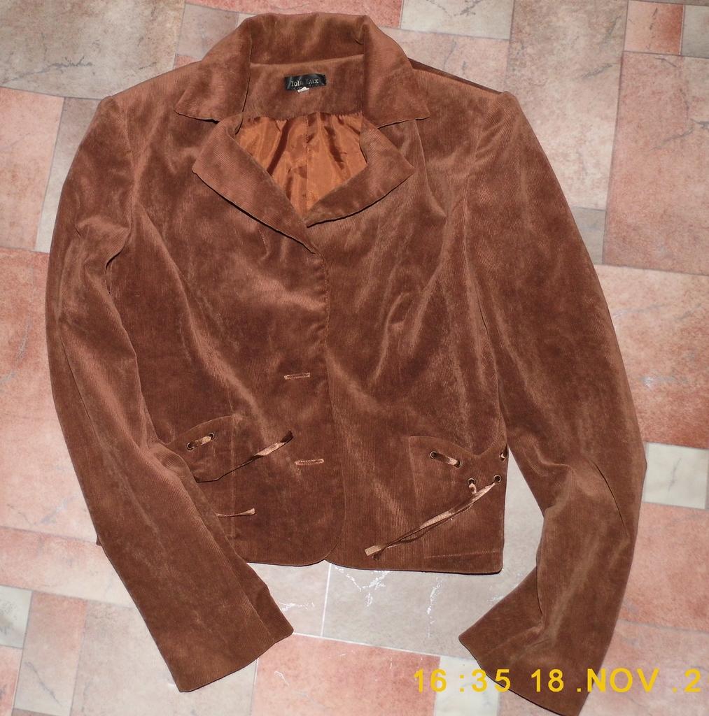 Отдам даром!Пиджак вельвет мягкий коричневый