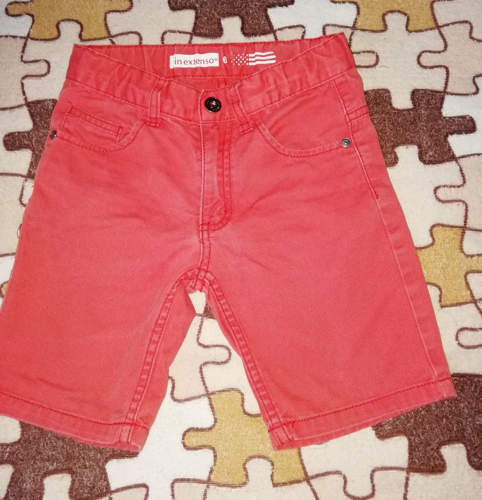 Шорты джинсовые р. 116 бу Цвет коралловый