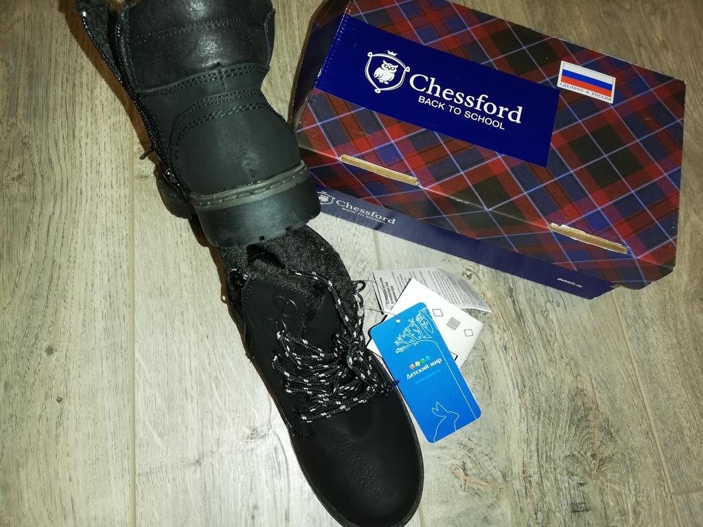 Новые, стильные, осенние ботинки р. 32(переросли)