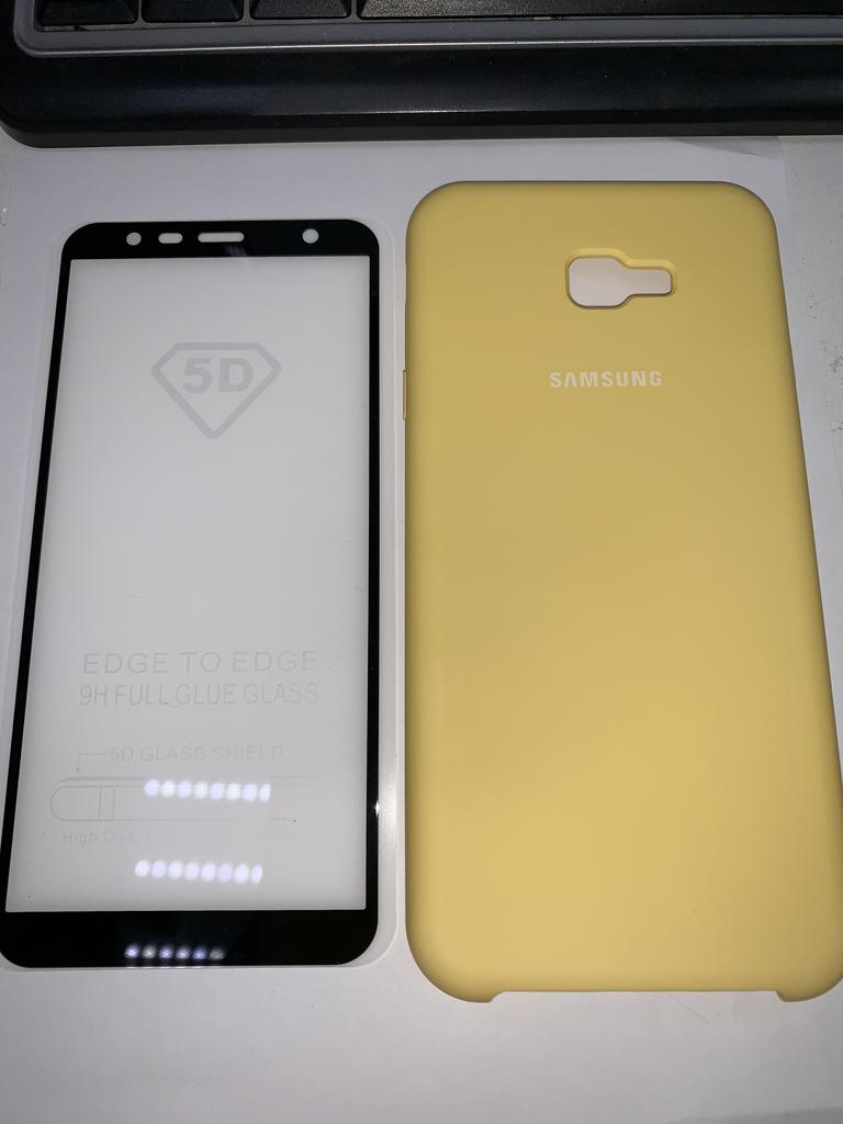 чехол и стекло Samsung J4+(2018)