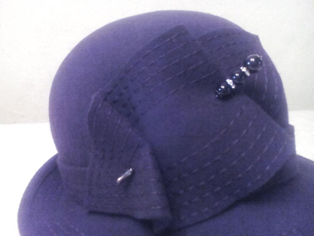 Новая фетровая шляпка р 56-57 Ариал цвет шоколад