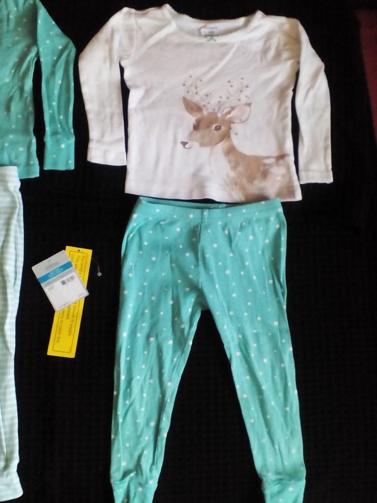 Пижама Carters р.24, 83-86 см оленёнок 2 шт