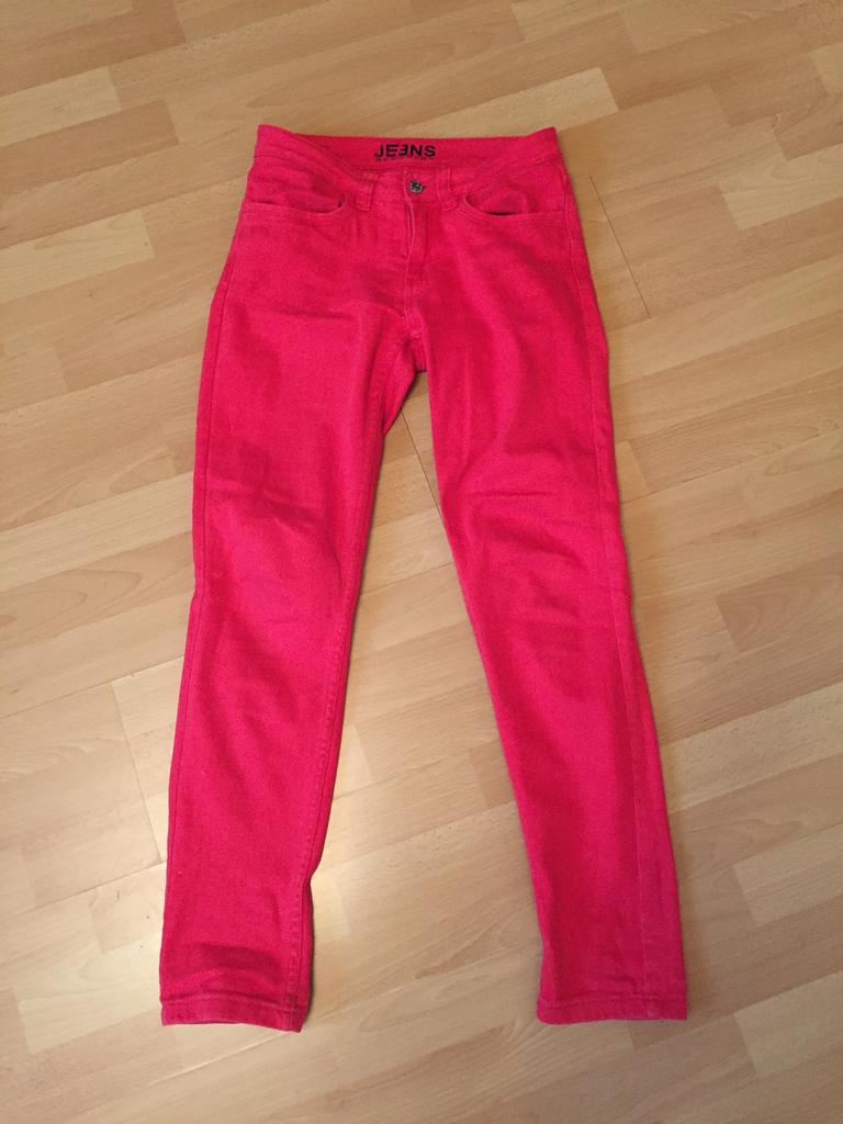 красные джинсы monton
