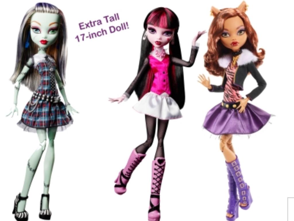 том, насколько огромные куклы монстер хай детей режим телефоне