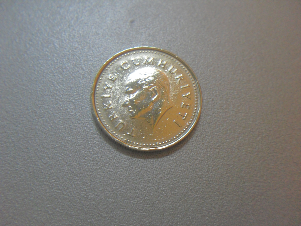 Монета 1000 Лир 1990 год Турция