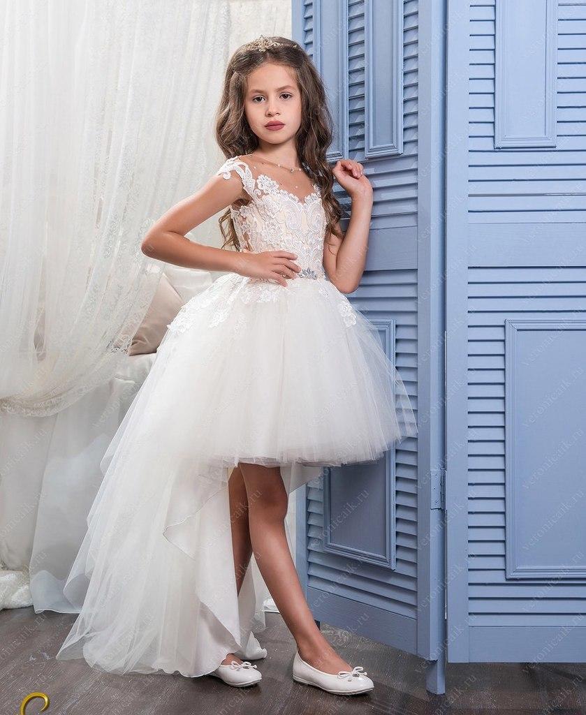 стильные нарядные детские платья на корсете.