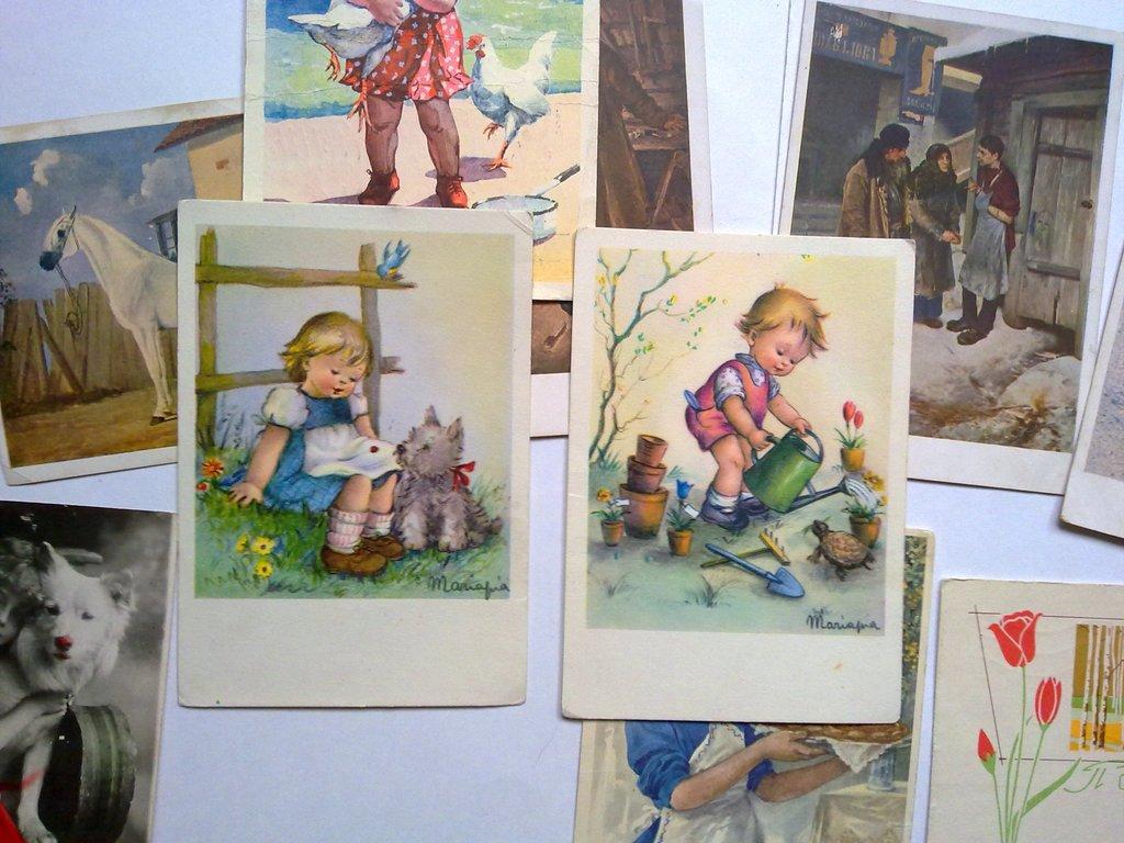 Старые открытки детские,открытки с детьми