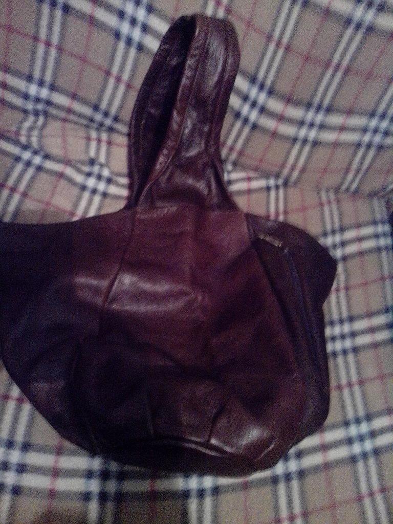 Сумка - торба - мешок нат. кожа