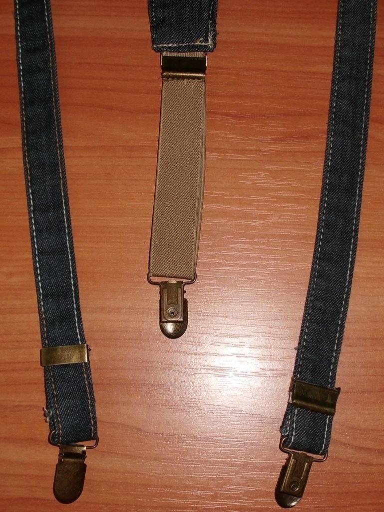 Подтяжки джинсовые с металлическими фиксаторами